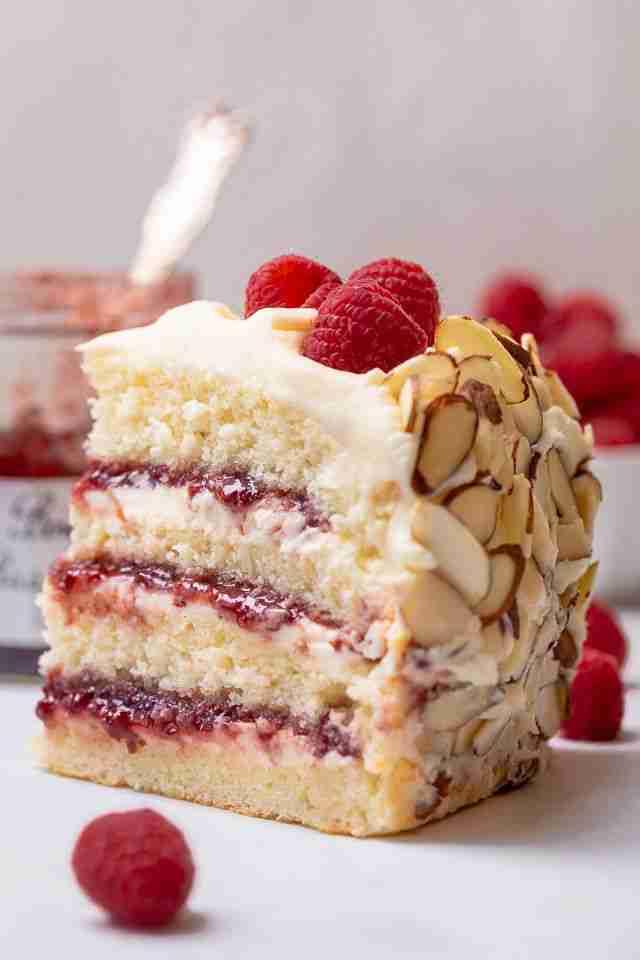 White Chocolate Almond Raspberry Cake – Baker by Nature